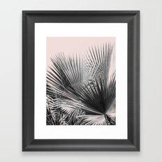 Palm leaves in pink Framed Art Print