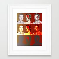 rick grimes Framed Art Prints featuring Rick Grimes by Zalazny