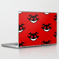 demon Laptop & iPad Skins featuring demon by Rebecca McGoran