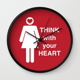 Think with your Heart Wall Clock