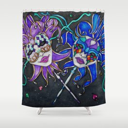 The Jesters Shower Curtain