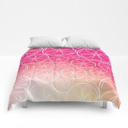 Citrus slices (pink grapefruit) Comforters
