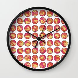 'In the Sunshine' Pink, Orange and Gold abstract pattern Wall Clock