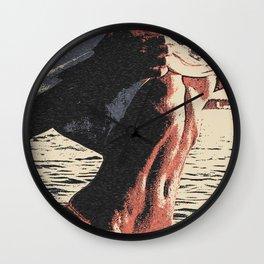 Lifeforce, sexy girl in bikini, woman teasing in water, erotic, kinky, seducing pose Wall Clock