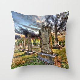 Tombstones at Twilight Throw Pillow