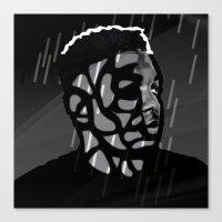 kendrick lamar Canvas Prints featuring Kendrick Lamar by Mr Mamu