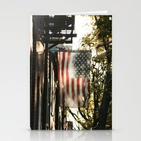american flag Stationery Cards featuring American Flag by Shy Photog
