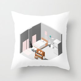 BTS - Isometric room Throw Pillow