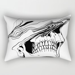 Skull (Liquify) Rectangular Pillow