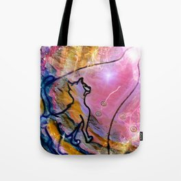 """""""The Cat's Long Journey"""" Tote Bag"""