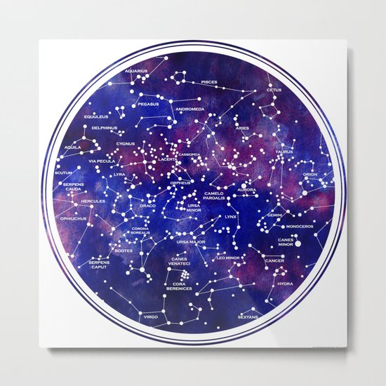 Star Map III Metal Print