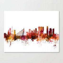 Rotterdam The Netherlands Skyline Canvas Print