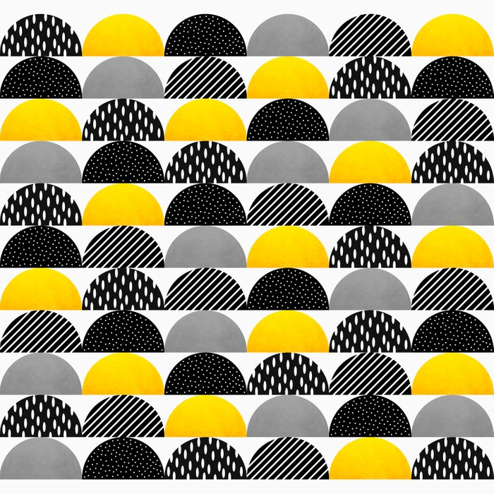 My favorite candy / Black & Yellow Comforters