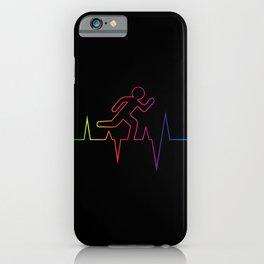 Heartbeat Runnin' Away iPhone Case