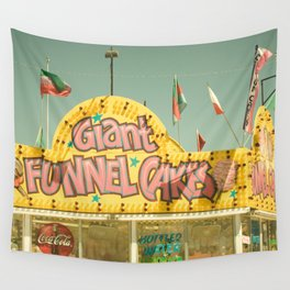 Giant Funnel Cakes Carnival Fair Food Funnel Cakes  Elephant Ears Foodie Art Wall Tapestry