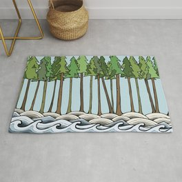 let nature consume you Rug
