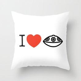 I LOVE PANTAM I LOVE HANDPAN T-SHIRT Throw Pillow