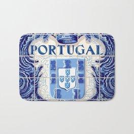 Portugal, art tile Bath Mat