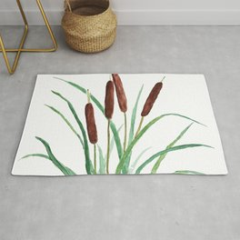 cattails plant Rug