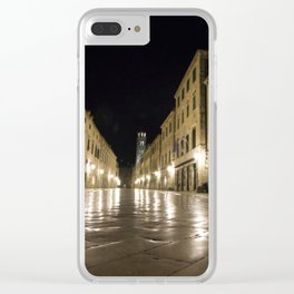 Dubrovnik at Night Clear iPhone Case