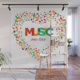 Inspirational MUSIC quotes, 04 Wall Mural
