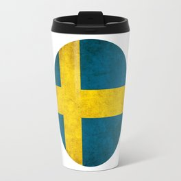 Sweden flag, circle Travel Mug