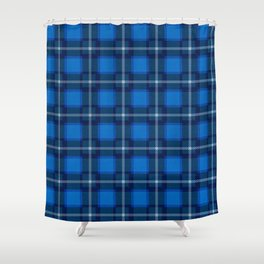 Scottish Tartan Blue Shower Curtain