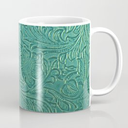 teal leather Coffee Mug