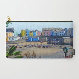 Tenby Harbour.Colour.Reflection. Carry-All Pouch