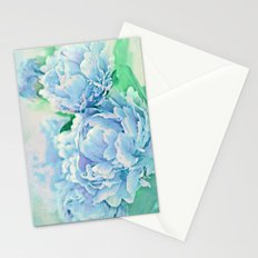 Blue Mist Peonies Stationery Cards
