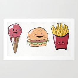 All the Food Cuties Art Print