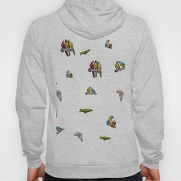 isolated ara ararauna parrot Hoody