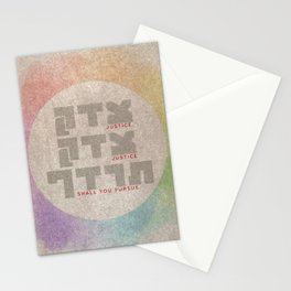 Justice Shall You Pursue - Hebrew Bible Quote Stationery Cards