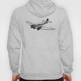 Old Airplane Detailed Illustration Hoody