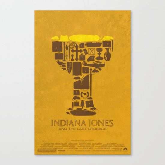 Indiana Jones and the Last Crusade Poster Canvas Print