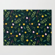 Floral Greenery Pattern I Canvas Print
