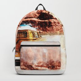 Bus Road Trip Abstract Backpack