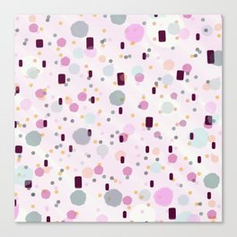 Watercolor Splash Effect Pattern Canvas Print
