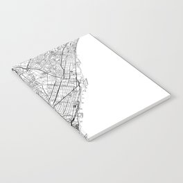 Barcelona White Map Notebook