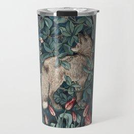 William Morris Forest Fox Tapestry Travel Mug