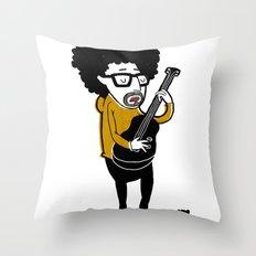 001_bass Throw Pillow