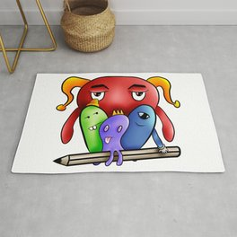 Little monsters draw team Rug