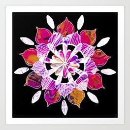 Simple Pleasures - Fractal Inverted Color Version Art Print