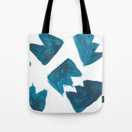 Basquiat Crown, Abstract, Blue Duck Tote Bag