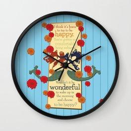 Happy Darling Mermaids Wall Clock