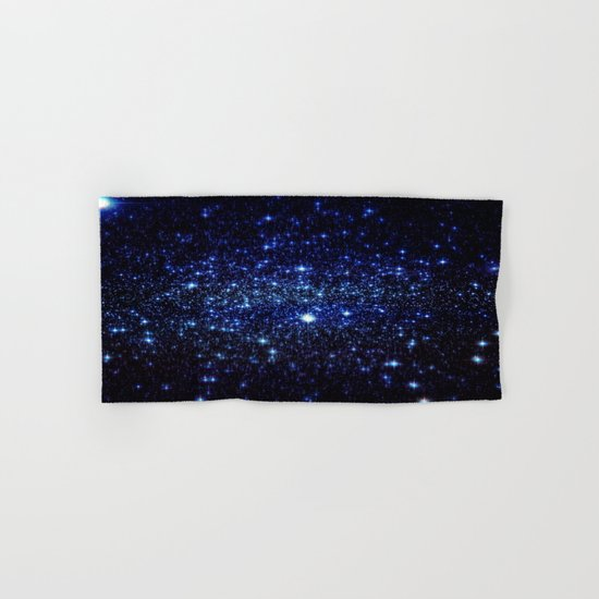 Dark Blue Stars Hand & Bath Towel