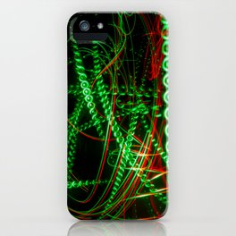 Abstract green and red light effect iPhone Case