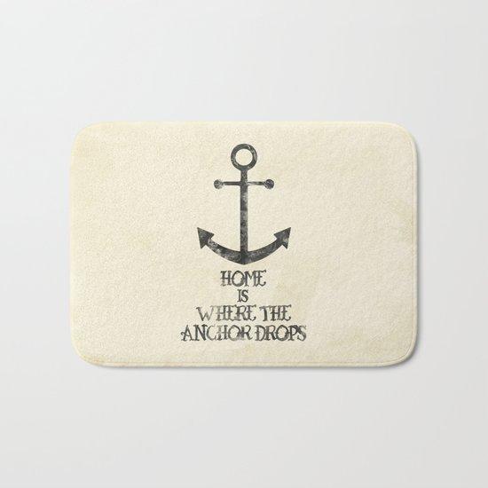 Where The Anchor Drops Bath Mat