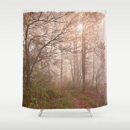 Misty North Point Trail Shower Curtain