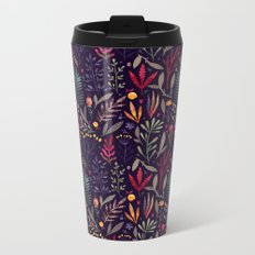 Botanical pattern Metal Travel Mug
